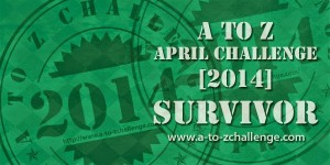 A to Z Survivor Badge 2014