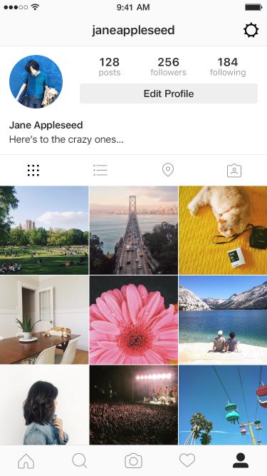 Instagram brand image
