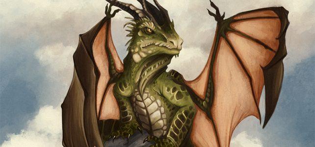 rock dragon kanizo art