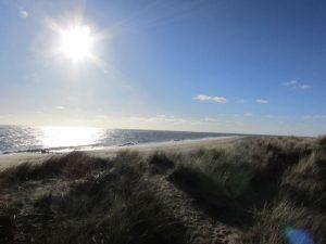 change in the weather Winterton beach