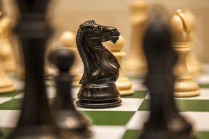 good versus evil chess peice