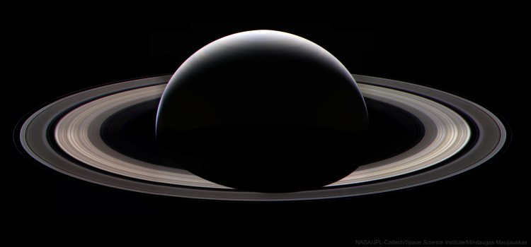 Cassini dark side of Saturn last pic