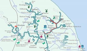 map of Norfolk Broads