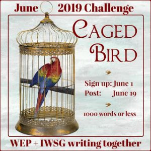 Caged bird badge