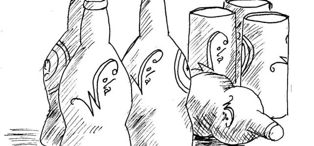 wozna bottles and cans chapter illustrations