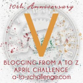V for Victor in the 2014 and 2017 #AtoZchallenge