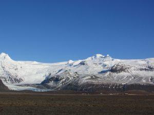 glacier meets the plain