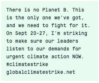 Climate Strike - there is no planet B