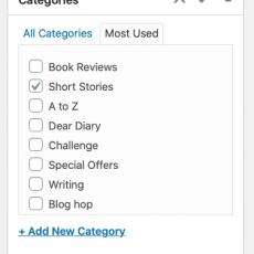 #IWSG November   Organising short stories on your blog