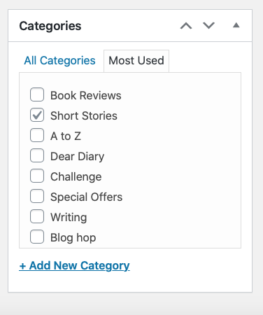 organising categories on wordpress