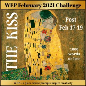 The Kiss WEP badge based on Klimt