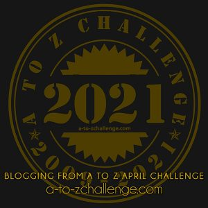 A to Z Challenge 2021 badge