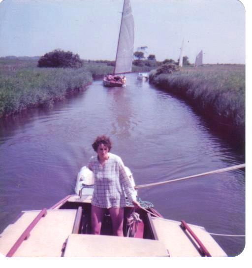 sailing on Horsey Cut