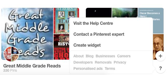 Pinterest help