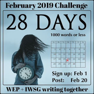 Feb 2019 challenge-28 days badge